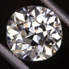 1.23ct F SI2 CERTIFIED VINTAGE OLD MINE CUSHION CUT DIAMOND ENGAGEMENT ANTIQUE