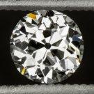 VINTAGE J VS1 OLD EUROPEAN CUT DIAMOND 1/2ct LOOSE 1920s ROUND ANTIQUE NATURAL