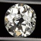 2.50ct ANTIQUE OLD MINE CUT DIAMOND NATURAL VICTORIAN ESTATE VINTAGE 9mm CUSHION