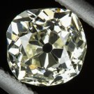 1 CARAT ANTIQUE OLD MINE CUT DIAMOND L-M VS1 LOOSE SQUARE CUSHION VINTAGE MINER
