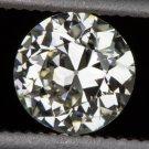 1/2 CARAT VINTAGE OLD EUROPEAN CUT DIAMOND LOOSE ESTATE I VS2 ROUND ART DECO 20s