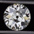 1.50ct H SI1 VINTAGE OLD EUROPEAN CUT DIAMOND 7.6mm EGL-USA CERTIFIED ROUND DECO