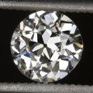 GIA CERTIFIED I VS2 OLD EUROPEAN CUT DIAMOND VINTAGE ANTIQUE 0.62ct MINE ROUND