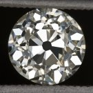 1 CARAT VINTAGE OLD EURO CUT DIAMOND K VS1 EGL-USA CERTIFIED ANTIQUE ART DECO OM