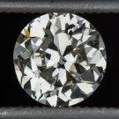 VINTAGE 1920s 0.82ct OLD EUROPEAN CUT DIAMOND K VS1 LOOSE ROUND ANTIQUE ART DECO