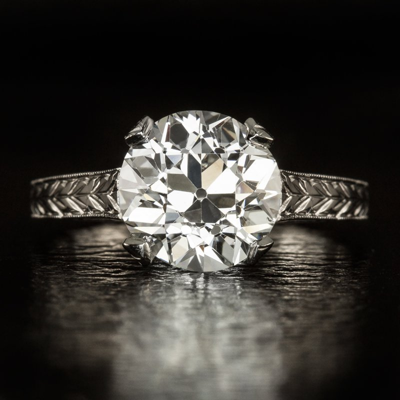 VINTAGE 2.31c OLD EURO DIAMOND I VS2 CERTIFIED ANTIQUE SOLITAIRE ENGAGEMENT RING