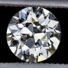 GIA H VVS2 OLD EUROPEAN CUT DIAMOND LOOSE CERTIFIED VINTAGE ART DECO ANTIQUE 20s