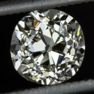 ANTIQUE OLD MINE CUT DIAMOND 0.88ct VICTORIAN ENGAGEMENT VINTAGE CUSHION NATURAL