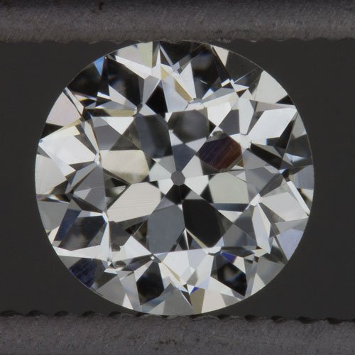 1900s F VS OLD EUROPEAN CUT DIAMOND VINTAGE EGL-USA CERT 1/2ct ROUND LOOSE MINER