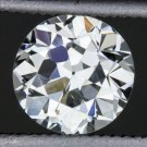 0.89c VINTAGE G VS2 ROUND DIAMOND EGL-USA CERTIFIED OLD TRANSITIONAL CUT VINTAGE