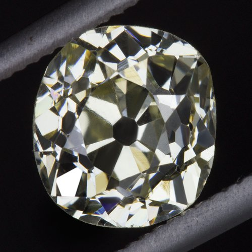 GIA CERTIFIED 1ct ANTIQUE OLD MINE CUT DIAMOND FANCY YELLOW VS2 VINTAGE CUSHION