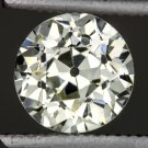 VINTAGE 0.91ct L VS1 ROUND DIAMOND EGL-USA CERTIFIED OLD EUROPEAN CUT LOOSE MINE
