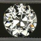 VINTAGE 0.61ct H VS2 OLD EUROPEAN CUT DIAMOND EGL-USA CERT LOOSE ROUND ANTIQUE