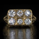 1.50ct ANTIQUE G VS OLD EURO MINE CUT DIAMOND FILIGREE COCKTAIL RING ART NOUVEAU