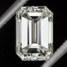 1 CARAT GIA CERTIFIED DIAMOND EMERALD CUT STEP I VS1 VERY GOOD NATURAL 1.01ct