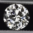 VINTAGE G VS1 OLD TRANSITIONAL CUT DIAMOND RETRO LOOSE ROUND 1/2 CARAT 5mm EURO