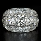 1920 4 CARAT VINTAGE OLD EUROPEAN CUT VS DIAMOND PLATINUM ART DECO COCKTAIL RING