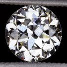 0.95ct D SI1 OLD EUROPEAN CUT DIAMOND LOOSE EGL-USA CERTIFIED VINTAGE ROUND 1ct
