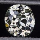 ANTIQUE OLD MINE CUSHION CUT OVAL DIAMOND ESTATE VS VINTAGE LOOSE 1/2 CARAT EURO