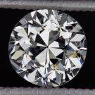 EGL-USA CERTIFIED H VS1 VINTAGE OLD EUROPEAN CUT DIAMOND 3/4ct ROUND ANTIQUE