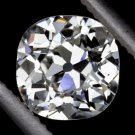 G VS2 3/4ct ANTIQUE IDEAL OLD MINE CUSHION CUT DIAMOND CERTIFIED SQUARE VINTAGE