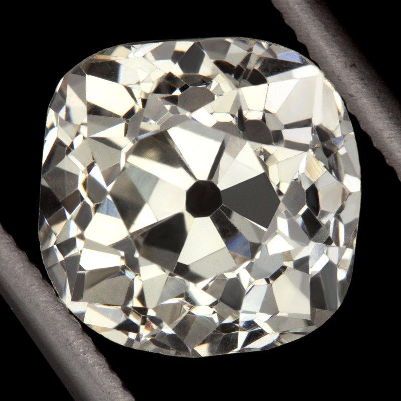 2.26ct ANTIQUE OLD MINE CUSHION CUT DIAMOND EGL-USA CERTIFIED VS2 VINTAGE SQUARE