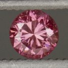 RARE GIA CERTIFIED FANCY VIVID PINK ROUND BRILLIANT CUT DIAMOND 0.14C RED VIOLET