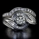 1.40 NATURAL DIAMONDS IDEAL CUT 0.40CT CTR I VS WEDDING BAND SET ENGAGEMENT RING