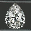 1 CARAT VINTAGE PEAR SHAPE DIAMOND CUT EGL-USA CERTIFIED I SI 1ct TEAR DROP REAL