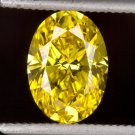 1.08ct FANCY VIVID YELLOW DIAMOND VS1 LOOSE OVAL CANARY ENGAGEMENT 1 CT INTENSE