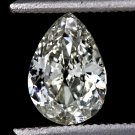 0.80ct VINTAGE PEAR SHAPE DIAMOND ANTIQUE I VS EGL-USA CERT TEAR DROP OLD CUT