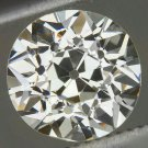 VINTAGE 1 CARAT H VS1 OLD EUROPEAN CUT DIAMOND EGL-USA CERTIFIED LOOSE ROUND 1ct