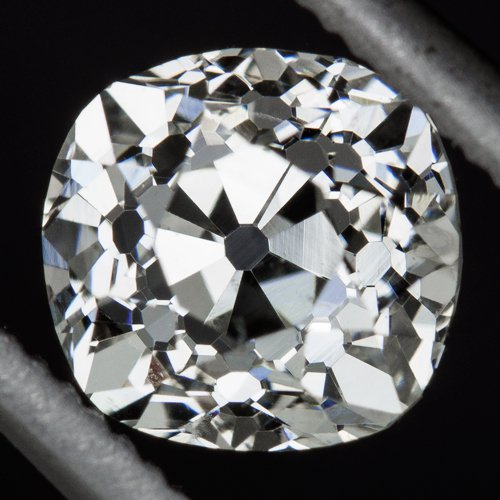 0.88ct VINTAGE G SI1 CERTIFIED OLD MINE CUSHION CUT DIAMOND ANTIQUE VICTORIAN OM