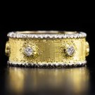 BUCCELLATI SIGNED ETERNELLE CAPRI DIAMONDS ETERNITY BAND HANDMADE 18K GOLD RING