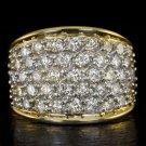 2 CARAT ROUND DIAMOND CLUSTER COCKTAIL RING 14K GOLD 7 GRAMS BIG STATEMENT 2ct