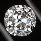 VINTAGE IDEAL CUT 0.91ct OLD EUROPEAN G SI1 DIAMOND EGL-USA CERTIFIED LOOSE 1ct