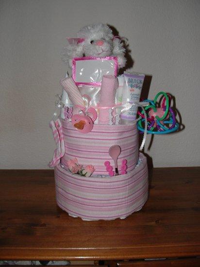 Baby Girl 3 Tier Diaper Cake