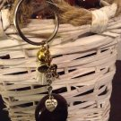 Tassel buckeye lucky charm keychain Hand made for you