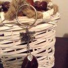 My mom my hero Lucky Charm Genuine Buckeye Keydhain handmade