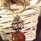 Leaf Lucky Charm Genuine Buckeye Keydhain handmade unisex All natural