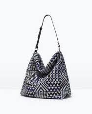 Zara bloggers favourite Beaded Ethnic Fabric bag BNWT