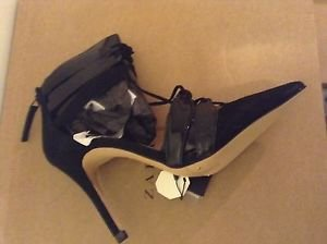 Zara combined leather high heel shoes with straps US 9 black