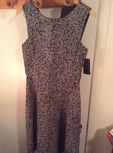 ZARA MIDI HERRINGBONE DRESS BLOGGERS FAV BNWT L ECRU/Back