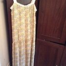 Zara Long Strappy Printed  Dress BNWT S