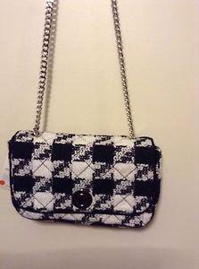 Zara Bloggers favouriite TWEED MESSENGER  BAG   BNWT black/ecru