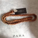 Zara BLOGGERS FAV BRAIDED LEATHER ROUND BUCKLE BNWT