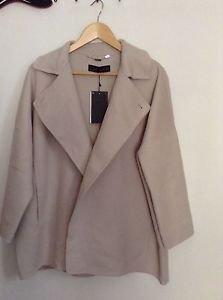 Zara Woman  Handmade double breasted  wool coat BNWT  Sand  M  one size
