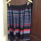 Zara woman multicoloured stripe Full midi Skirt BNWT L