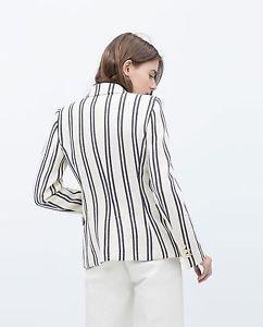 Zara woman stripe textured blazer  BNWT xs