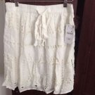 Zara Bloggers Fav CUTWORK SKIRT WITH BOW BNWT L & XS available WHITE